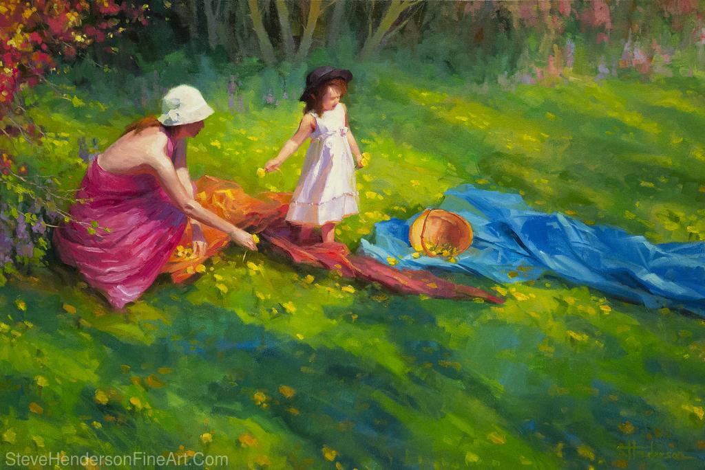 Dandelions by Steve Henderson Oil ~ 32 x 48