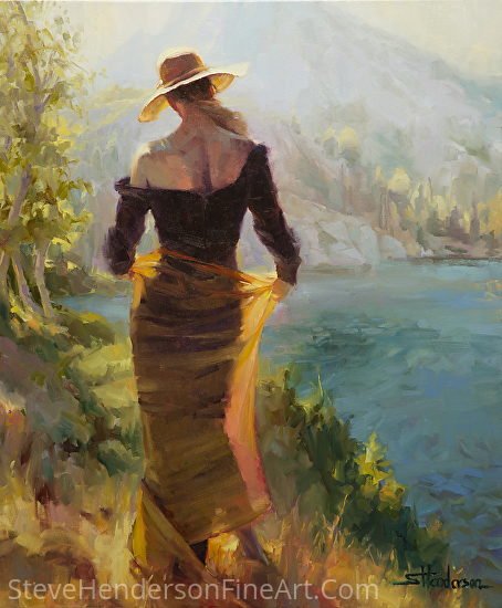 Lady of The Lake by Steve Henderson Oil ~ 36 x 30