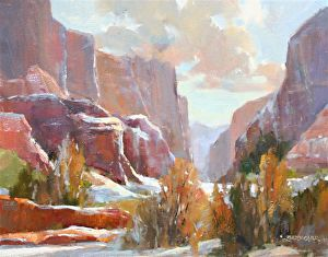 Canyon's First Snow by Betty Carr Oil ~ 16 x 20