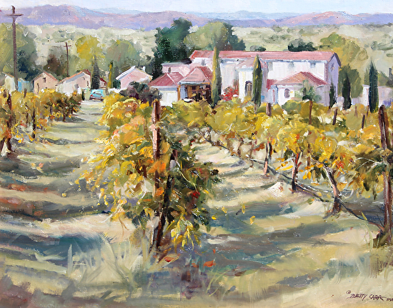 AUTUMN VINYARD - Oil