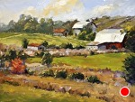 "Farm Tapestry by Neil Walling Oil ~ 12"" x 16"""