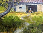 "The Orange Tractor by Neil Walling Oil ~ 12"" x 16"""