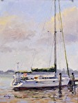 "Naples Harbor by Neil Walling Oil ~ 12"" x 9"""