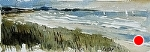 "Good Harbor Beach by Neil Walling Watercolor ~ 4 1/2"" x 13 1/2"""