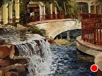 "Promenade Waterfall by Neil Walling Oil ~ 12"" x 16"""