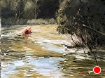 "Down he Crystal River by Neil Walling Oil ~ 18"" x 24"""