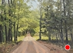 Country Road by Neil Walling Oil ~ 12 x 16