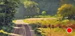 "Summer Sun by Neil Walling Oil ~ 15"" x 30"""