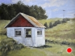 """Thoreson Garden Shed"" by Neil Walling Oil ~ 18"" x 24"""