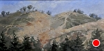 """Sleeping Bear Hill Climb"" by Neil Walling Oil ~ 10"" x 20"""