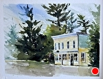 """Lake Street"" by Neil Walling Watercolor ~ 11"" x 14"""