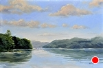 """Little Glen Lake Morning"" by Neil Walling Oil ~ 20""{ x 30"""