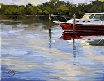 "Red Boat by Neil Walling Oil ~ 16"" x 20"""