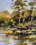 """Backwater"" by Neil Walling Oil ~ 24"" x 18"""