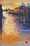 """Venice at Sunset"" by Neil Walling Oil ~ 30"" x 20"""