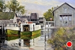 """Fishtown"" by Neil Walling Oil ~ 24"" x 36"""