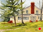 """Glen Haven Hotel"" by Neil Walling Oil ~ 12"" x 16"""