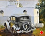 """The 34"" by Neil Walling Oil ~ 16"" x 20"""