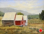 """Carsten Burfiend Corn Shed"" by Neil Walling Oil ~ 16"" x 20"""