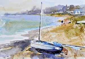 """Ready To Sail"" by Neil Walling Watercolor ~ 7"" x 10"""