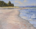 """Glen Haven Beach 3"" by Neil Walling Oil ~ 16"" x 20"""