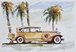 "1933 Packard by Neil Walling Watercolor ~ 12"" x 16"""