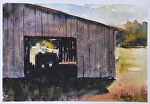 "The Tractor Shed by Neil Walling Watercolor ~ 12"" x 16"""