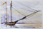 "Tall Ship by Neil Walling Watercolor ~ 12"" x 16"""