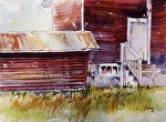 "Thoreson Red"" by Neil Walling Watercolor ~ 9"" x 12"""
