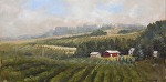 """Vineyards"" by Neil Walling Oil ~ 12"" x 24"""