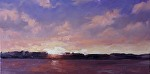 """Sunrise"" by Neil Walling Oil ~ 12"" x 24"""