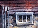 """Basement Window"" by Neil Walling Oil ~ 9"" x 12"""