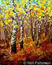 Fall Aspens by Neil Patterson Oil ~ 30 x 24