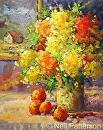 Flowers & Oranges by Neil Patterson Oil ~ 20 x 16