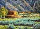 Teton Barn by Neil Patterson Oil ~ 18 x 24