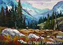 Rocky Slope by Neil Patterson Oil ~ 9 x 12