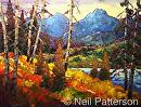 Mountain Lake by Neil Patterson Oil ~ 36 x 48