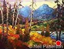 Mountain Lake by Neil Patterson Oil ~ 36 x 48
