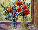 Summer Blooms by Neil Patterson Oil ~ 16 x 20