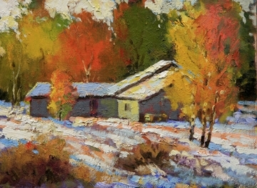 Snowbound by Neil Patterson Oil ~ 9 x 12