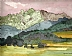 "Lofer Mayerberg Alm by Rebecca Fraser Watercolor ~ 10"" x 8"""