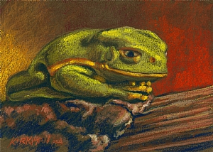 Frog I by Rita Kirkman Limited Edition Print ~ 8.5 x 11 inches