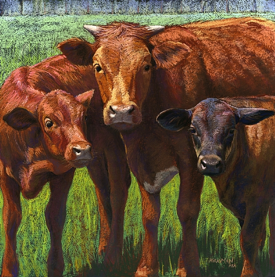 Out Standing In Her Field by Rita Kirkman Pastel ~ 24 x 24 inches