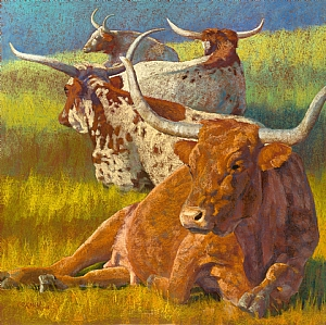 4 at Rest by Rita Kirkman Limited Edition Canvas Giclee ~ 32 x 32 inches