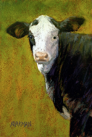 Black Mottleface by Rita Kirkman Pastel ~ 6 x 4 inches