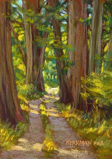 Sunlit Walk by Rita Kirkman Pastel ~ 7 x 5 inches