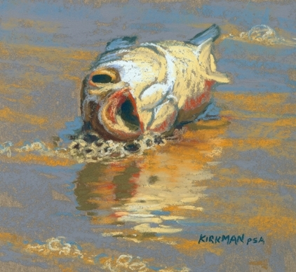 Dead Fish 1 by Rita Kirkman  ~ 5 x 5 inches