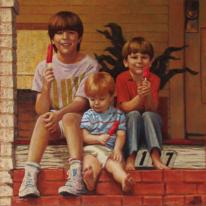 Deborah's Boys by Rita Kirkman Pastel ~ 24 x 24 inches