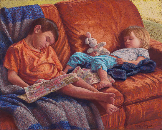 It was a long day by Rita Kirkman Pastel ~ 30 x 39 inches
