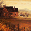 """Dusk, Hoytsville Farmhouse circa 1890"""